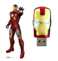 Plastic Iron Man USB flash drive with 16gb 32gb memory capacity free shipping free gifts