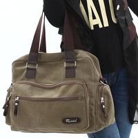 Canvas bag shoulder bag messenger bag vintage fashion women's handbag