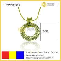 free shipping wholesale 2013 fashion jewelry full rhinestone round ring necklace