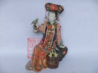Ceramic crafts figurines lady free bird