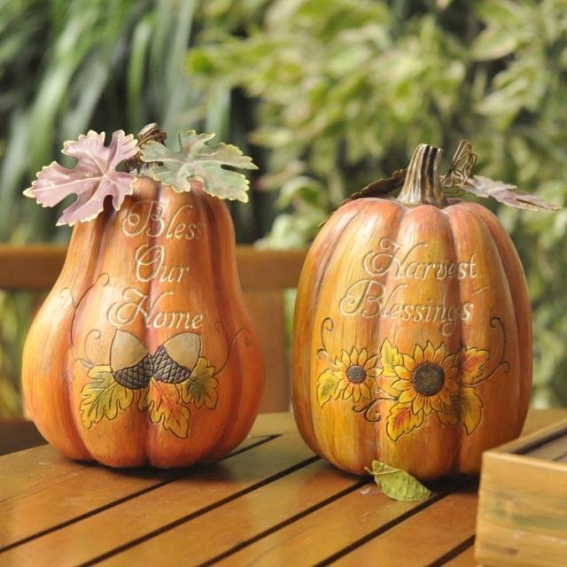 Wedding gifts meike home decoration resin pumpkin(China (Mainland))