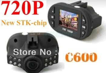 "FreeShipping New Cheap HD 720P STK C600 Mini Smallest Car DVR Camera Video Recorder 4X Zoom with IR 12LED Night Vision 1.5"" TFT(China (Mainland))"