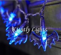 Wholesale and retail High quality Halloween Cold-blooded bats lamp series night light, 2.5M,20 bulbs,Free shipping.