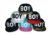 6 styles BOY LONDON snapbacks caps, 3D embroidery BOY, High Quality Boy Snapback Hat+ free shipping