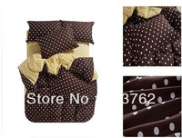 100% cotton home textile bedspread bed skirt,bedset and cover and pillow for bed 4PCS