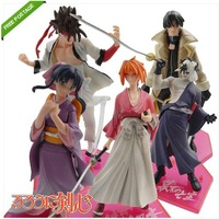 Free Shipping High Quality Japanese 5pcs Samurai X Rurouni Kenshin OFFICIAL Figures set of 5PCS Nice Gift