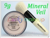 1pcs 9g MINERAL VEIL with powder brush,id Bare Escentuals bareMinerals VOILE MINERAL Foundation finishing puder VELO Click/Lock