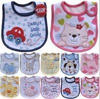 2013 Hot Sale Cotton Baby Bib Infant Saliva Towels Baby Waterproof Bib Cartoon Baby Wear  CQ0001