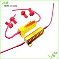 Free Shipping 4pcs LED bulb TURN signal Light Load Resistor 50W 6OHM Fix Error Flash