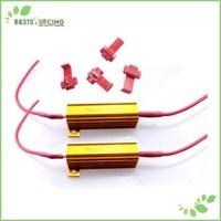 10pcs/lot Auto LED Signal Turn Indicator Fog Light Car Canbus Error Free 50W 6OHM Load Resistor