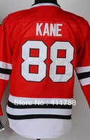 Youth Kids #88 Patrick Kane black red green white stitched emdroidered chicago ice hockey jerseys cheap 2013