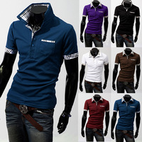 Free shipping 2013 summer Hot-selling fashion men's   short-sleeve polo shirts polo shirt