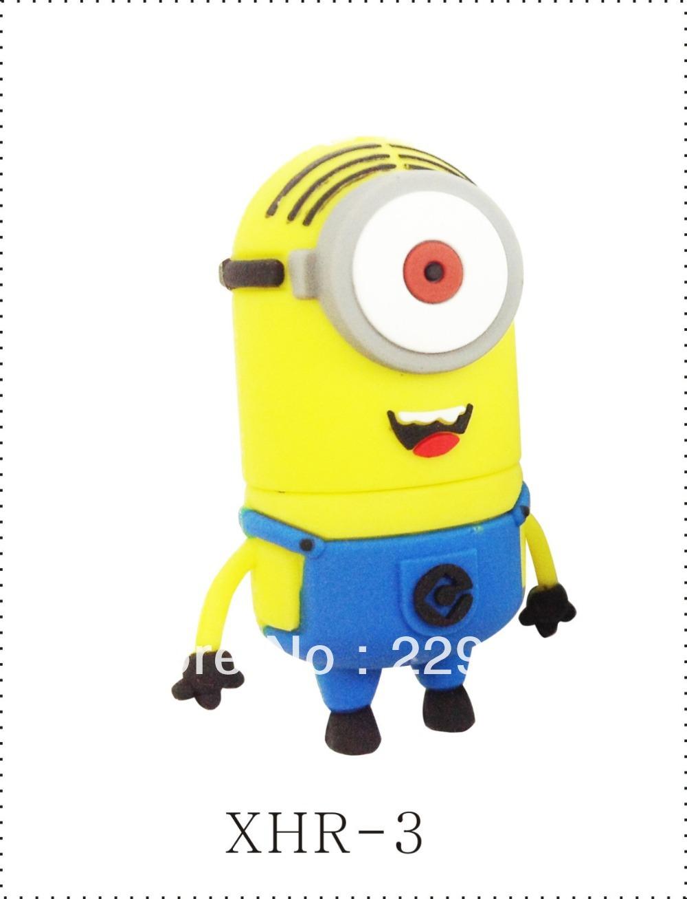 Sorriso minons flash usb, o projeto original, nova cartoon flash drive usb, memória usb flash drive caneta vara polegar bonito, frete grátis