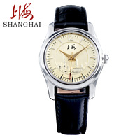Watch classic vintage genuine leather manual mechanical mens watch oriental pearl dial sa-3