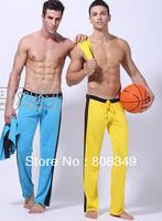 2014 WJ The new men's home trousers milk silk soft sports pants Yoga trousers basketball trousers pajamas short S/M/L free ship