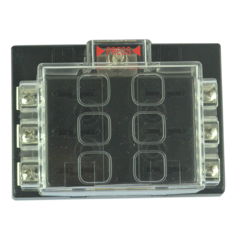 6 way blade fuse box block holder circuit for auto rv boat marine 12v 24v in fuse components