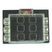 6 Way Blade Fuse Box Block Holder Circuit For Auto RV Boat Marine 12V/24V