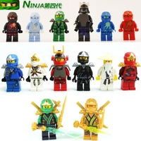 20pcs/lot Ninjago Ninja Figures With Weapons Building Block Sets Minifigure Model DIY Bricks Toys Without Orignial Box