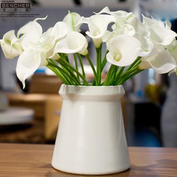 Bucherer vase ceramic home vase furniture decorations modern brief home accessories white a82