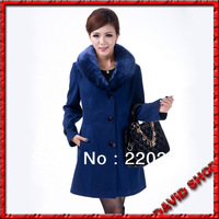 Hot!!!2013 High Quality Free Shipping Europe And The United States In Fashionable New Lapel Long Wool Woolen Cloth Coat