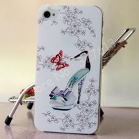 Case for iPhone 4/4s/5/5s 3D Elegant Cameo Shoe Hard Cover Case
