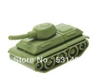 Wholesale Hot Creative Cartoon Tank 2G 4G 8G 16G 32G USB Flash Drive 100%real capacity,FREE SHIPPING!!!