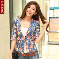 2013 summer sleekly flower slim design short blazer Women fancy suit