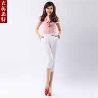 Clothing capris female plus size tencel pants candy color skinny pants casual pants
