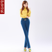2013 slim fashionable casual mid waist pants trousers female