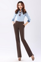 2013 high waist high-elastic plus size plus size slim flare trousers plus size comfortable small flare trousers