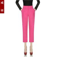 Plus size capris pants summer slim casual pants candy pencil pants