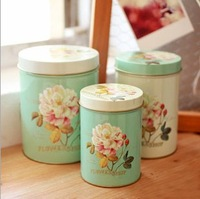 Zakka piece set vintage storage tin lid storage box exquisite tieyi multifunctional