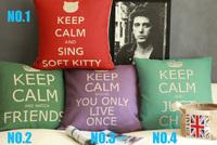 Keep Calm Four Color Series. 4 choose 1 Decorative Cushion Covers 1pcs