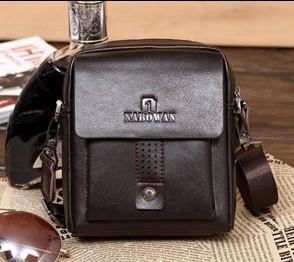 Free shipping Guaranteed 100% Cowhide genuine leather man bag casual small bag messenger bag business bag TB-JH88