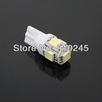 1000X Free shipping Car Auto LED T10 194 W5W 5 led smd 5050 Wedge LED Light Bulb Lamp 5SMD White/Green/Blue/Red/Yellow