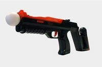 Black Shooting Attachment Gun Submachine Gun Shell for PS3 Move Controller Free shipping