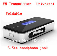 Free shipping Car fm transmitter for iPhone5 4S 3G FM transmitter FM transmitter foldable