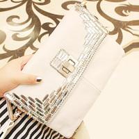 2013 autumn fashion diamond women's clutch quality portable clutch bag messenger bag female