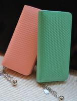 2013 women's wallet sweet japanned leather small peach heart long design women's wallet