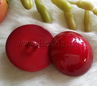Free shipping!!!ABS plastic shank button,Female Jewelry, Dome, red, 25mm, 50PCs/Ba Sold By Bag
