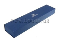 Free shipping!!!Cardboard Bracelet Box,Tibet Jewelry, Rectangle, dark blue, 240x50x30mm, 10PCs/Lot, Sold By Lot