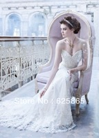 2013 New style Noble/Fashion Sweetheart  With Appliques Mermaid  wedding dresses,Custom!