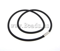 Free shipping!!!Fashion Necklace Cord,Wedding, Rubber, black, 4mm, 17x5mm, Length:18 Inch, 50Strands/Lot, Sold By Lot