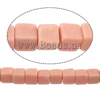 Free shipping!!!Natural Coral Beads,Jewelry Accessories, Synthetic Coral, Cube, pink, 4.50x4.50x4.50mm, Hole:Approx 1mm