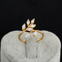 J1304 Wholesale 2013 18K Gold Plated Wedding Rings Inlay Zircon Crystal Fashion Jewelry bowknot Hot Selling