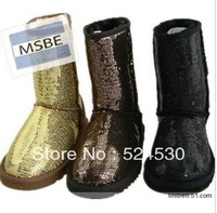 Free shipping, 2013 new hot flashes sequined snow boots snow boots 5825B