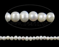 Free shipping!!!Baroque Cultured Freshwater Pearl Beads,Vintage, Round, white, 3mm, Hole:Approx 0.8mm, Length:Approx 14.5 Inch