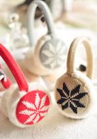 Fashion elegant plaid plush thermal windproof earflap earmuffs