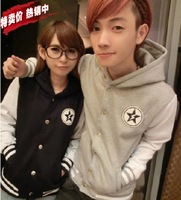 2013 autumn and winter class service lovers with a hood sweatshirt cardigan hooded clothes