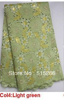 FREE SHIPPING! quality guaranteed big organza lace bridal african lace fabric for woman in light green TKL1996